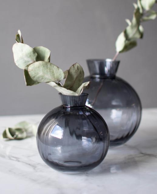 Vase Vrå Rauchglas