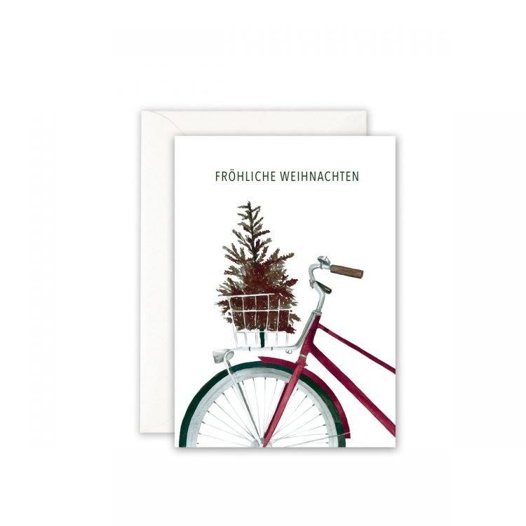 Grußkarte Fahrrad, Christmas Greetings