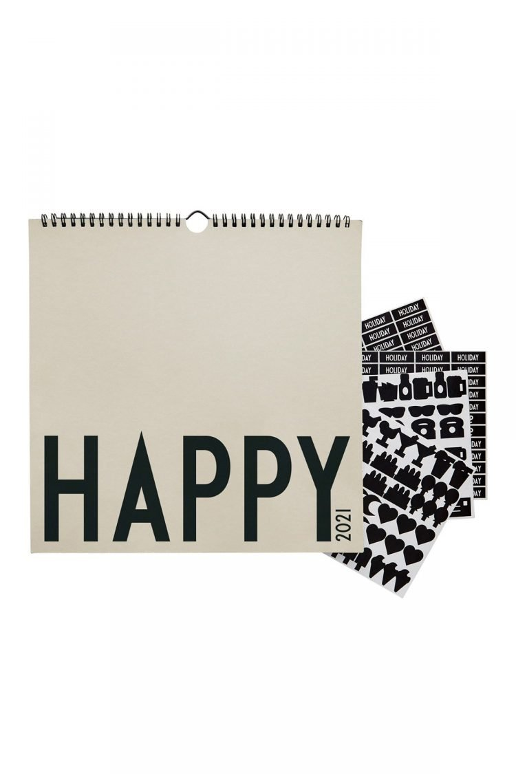 Wandkalender Happy 2021, Design Letters
