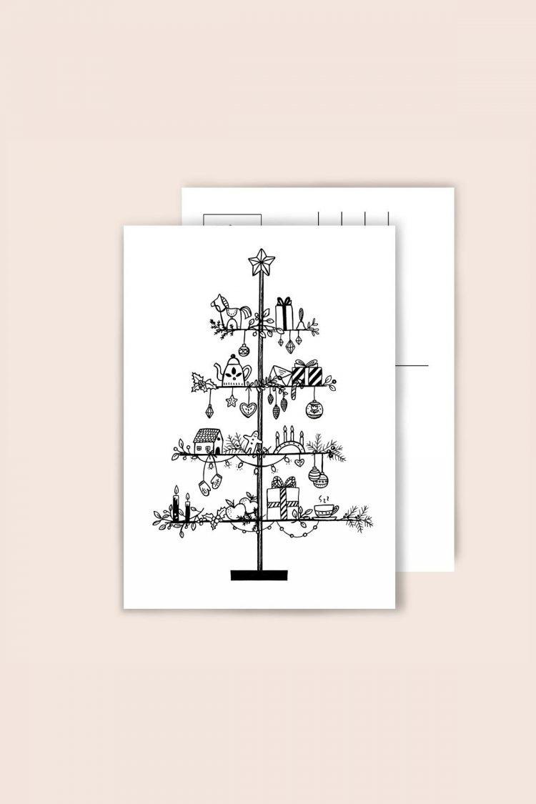 Postkarte Swedish Tree