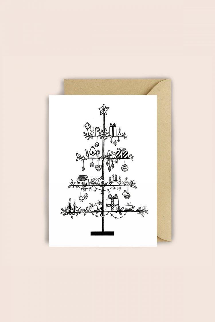 Klappkarte Swedish Tree
