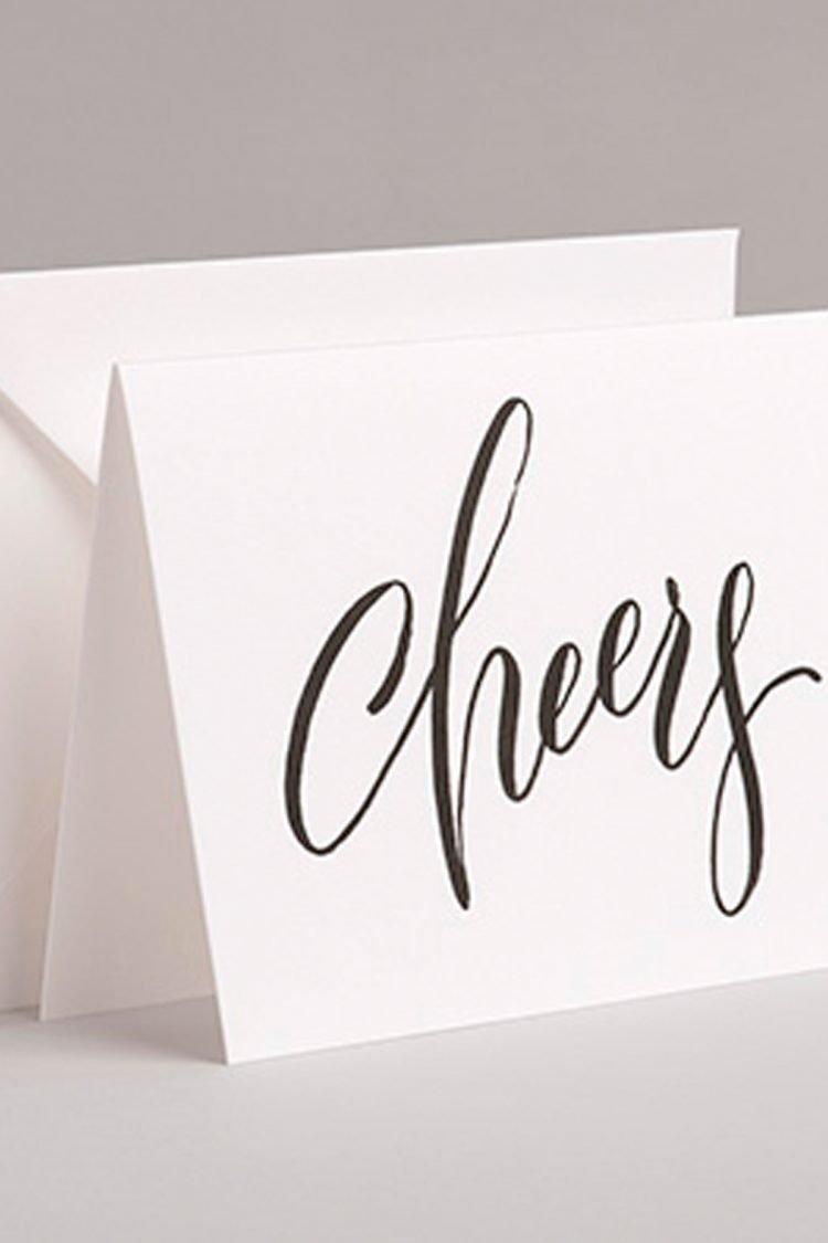 Grußkarte Cheers, Handlettering