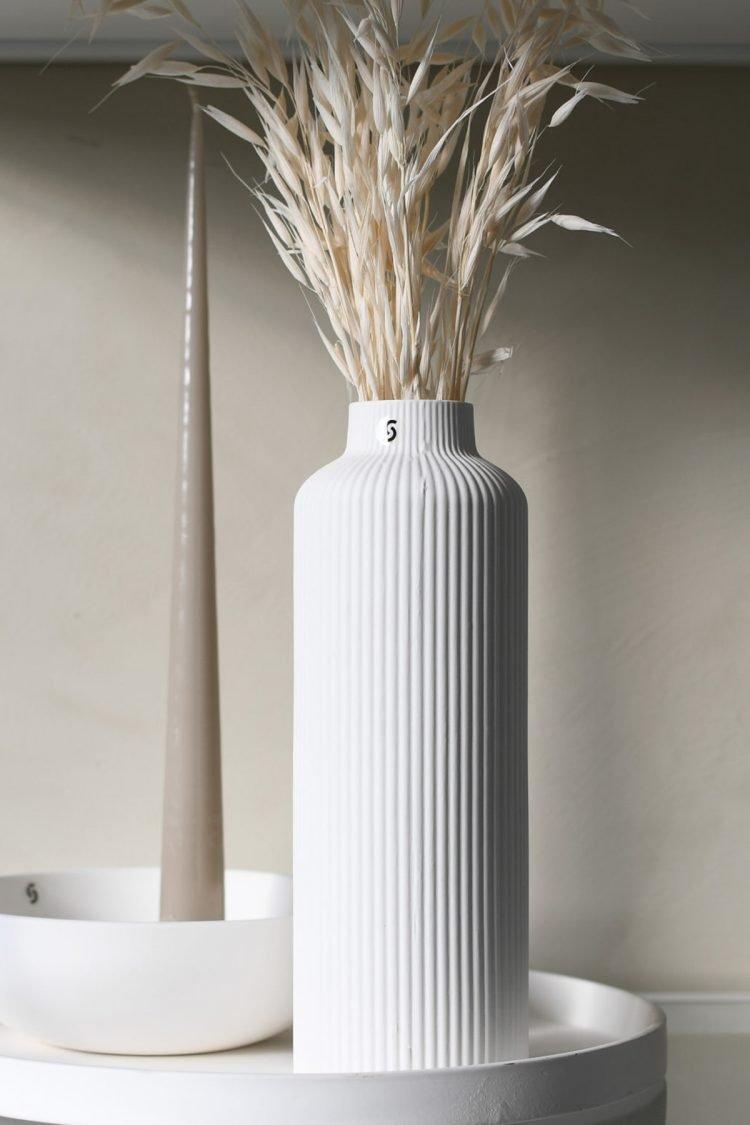 Vase Adana, Weiß