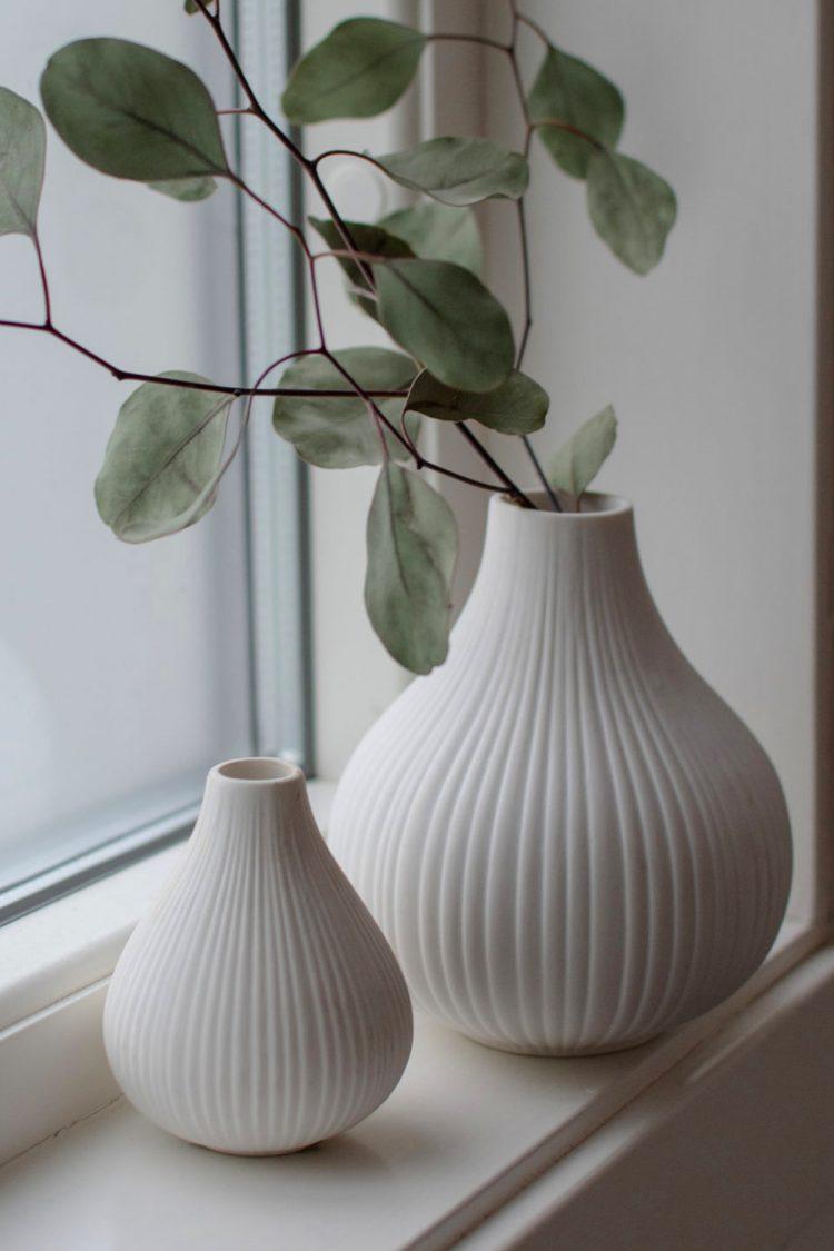 Vase Ekenäs, Weiß