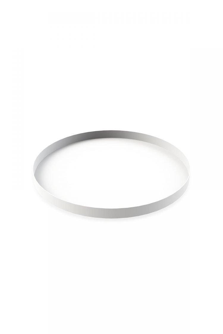 Tablett Rund Weiß, 40cm