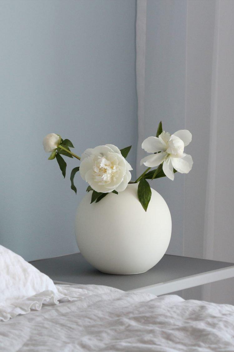 Vase Ball, Weiß