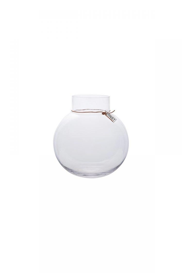Vase Rund, Glasklar