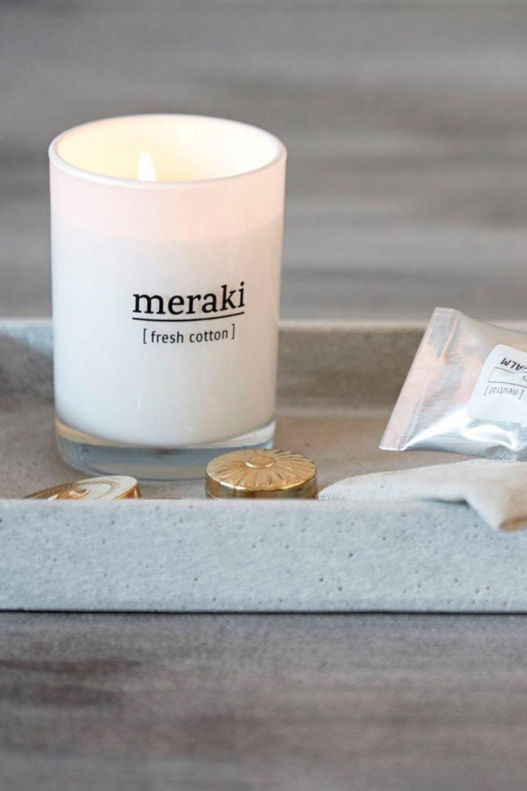 Duftkerze Fresh cotton, Meraki