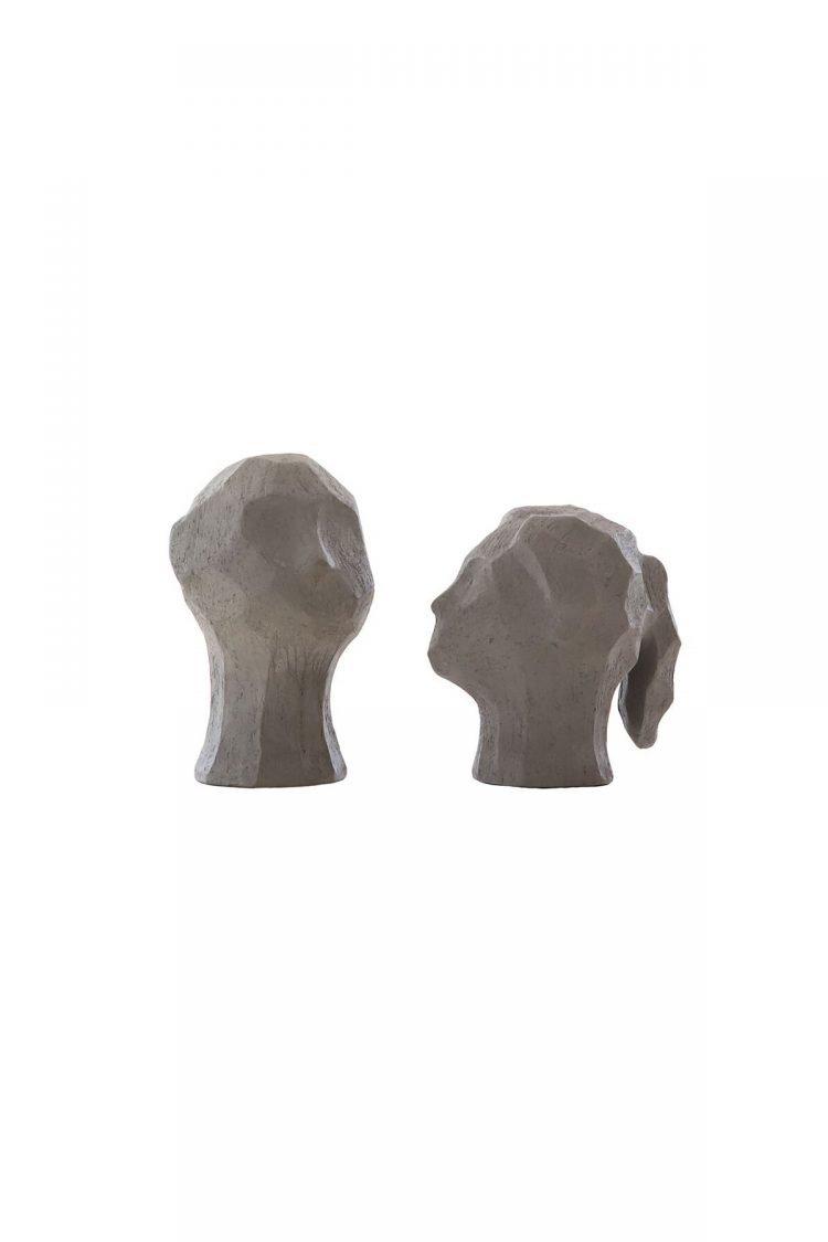 Skulptur Benedict & Amal, Graphite