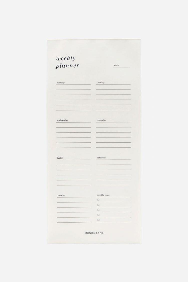 Wochenplaner, Monograph