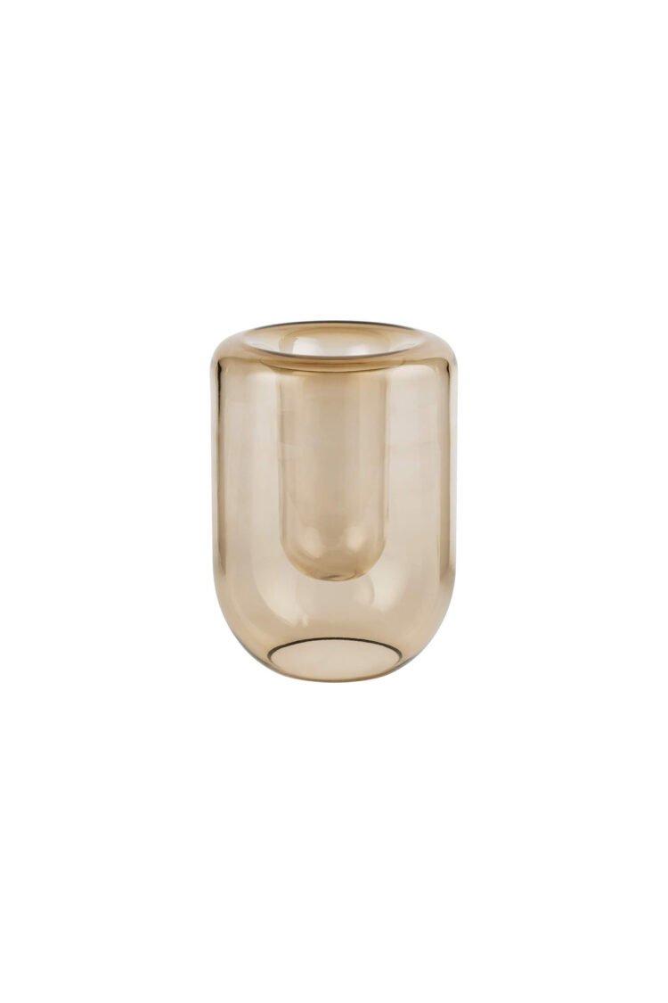 Opal Vase Large, Topaz Brown