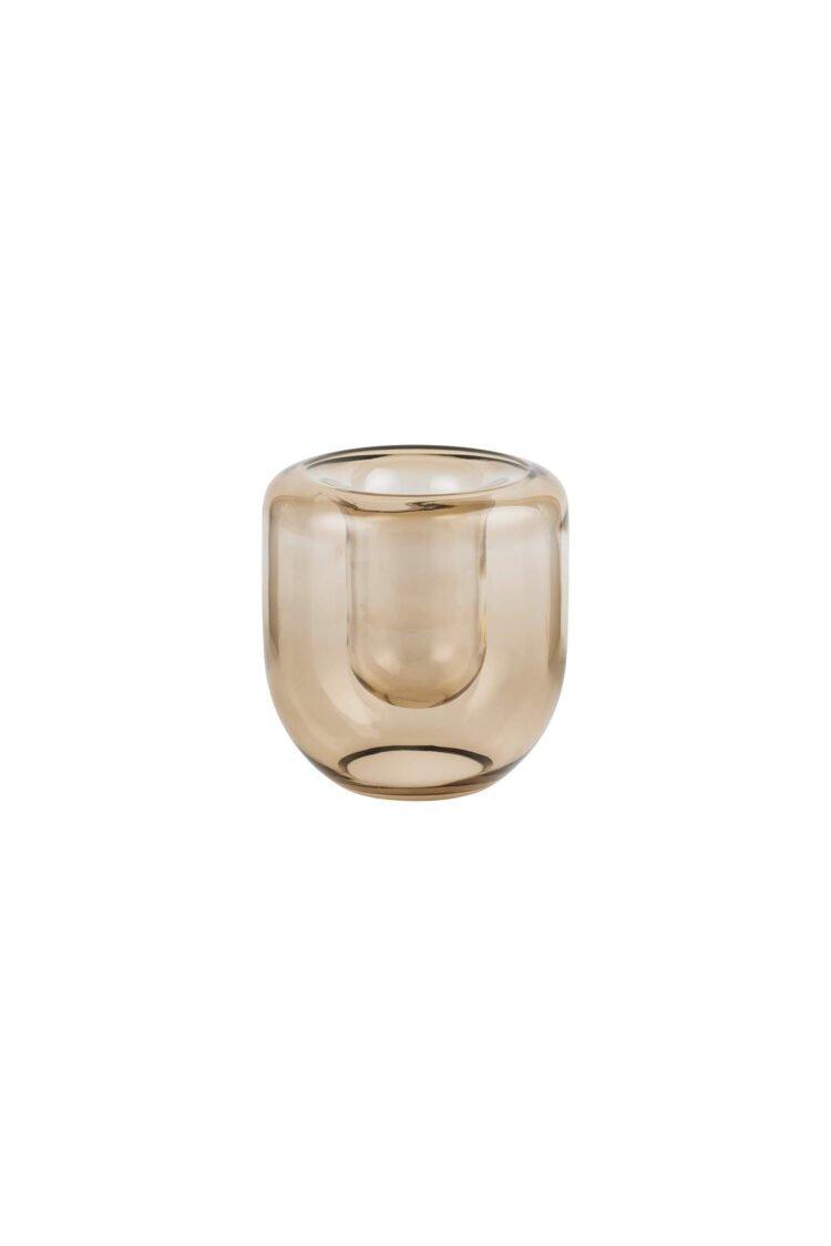 Opal Vase Small, Topaz Brown