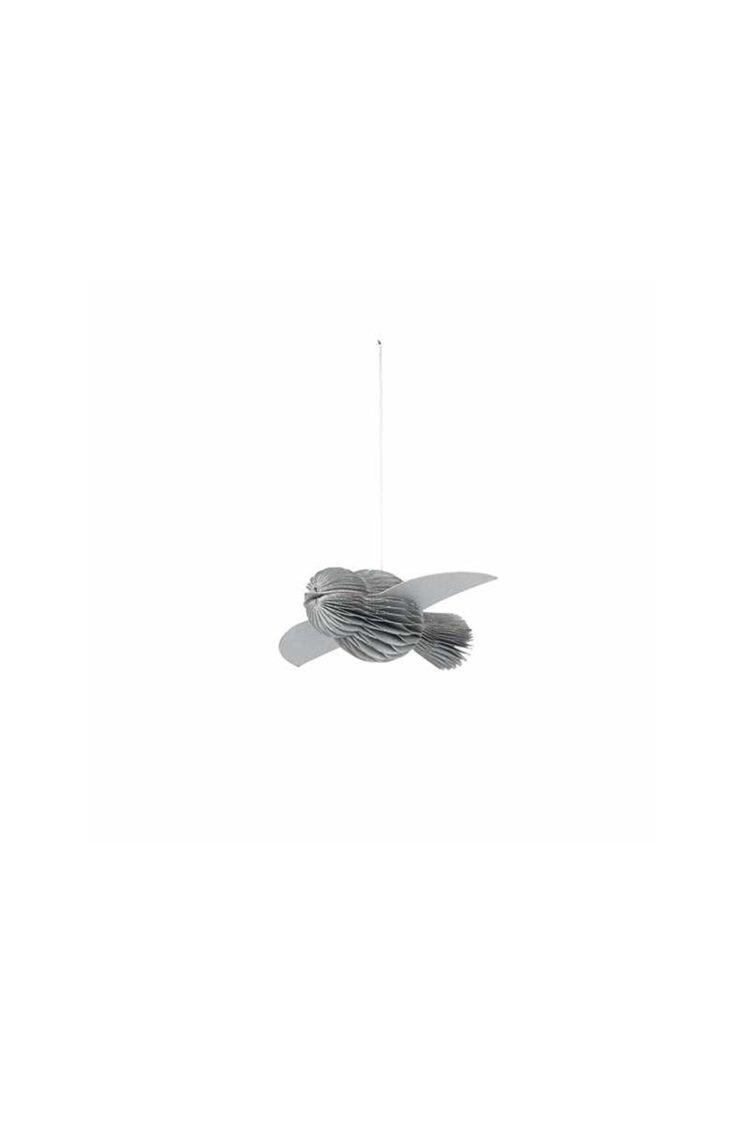 Ornament Fugl Silber, Papier