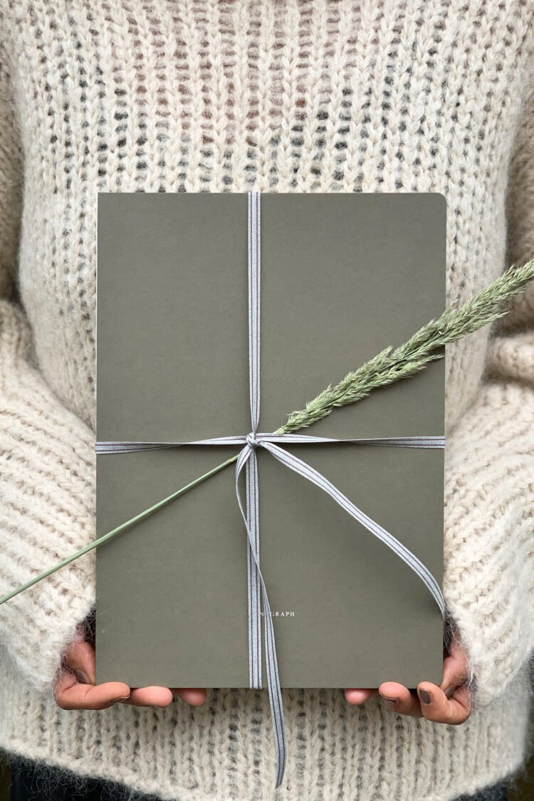 Notizbuch, Sketch, Armeegrün