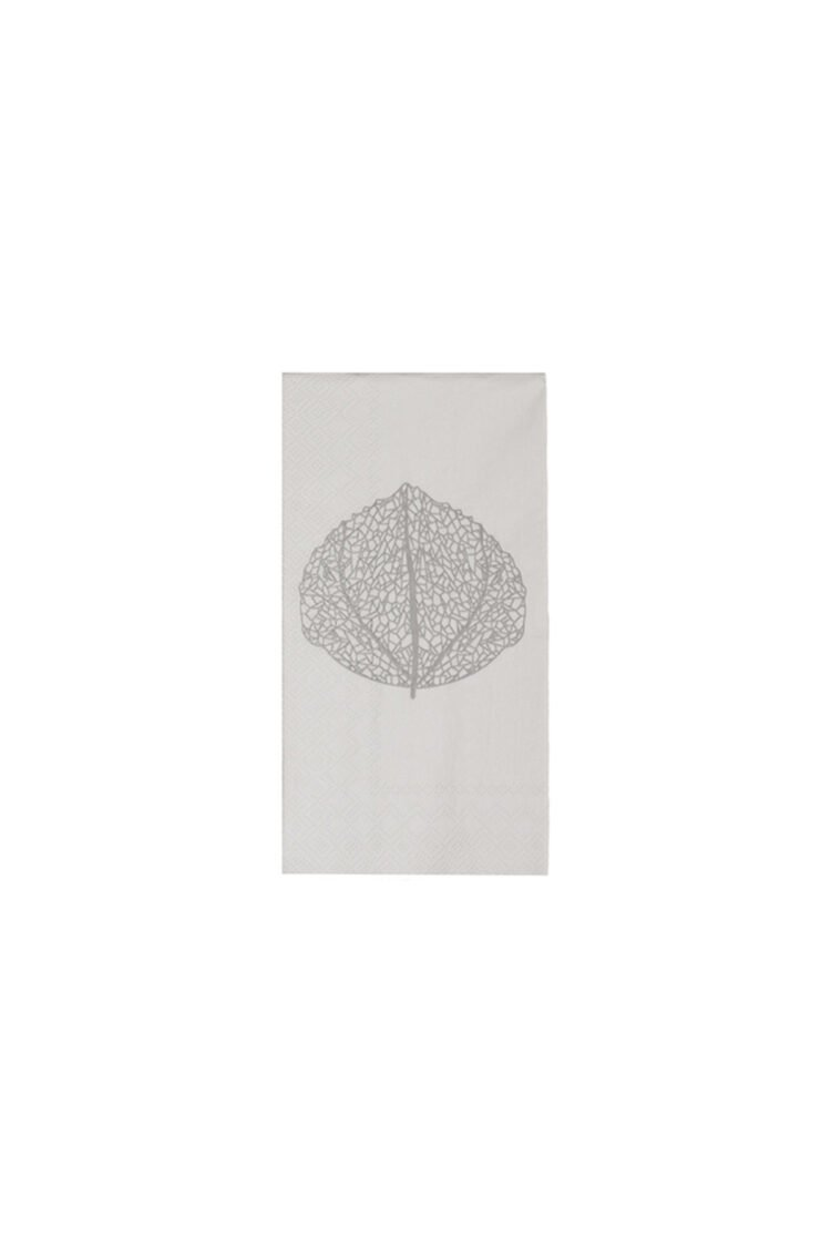 Servietten grau, Leaf