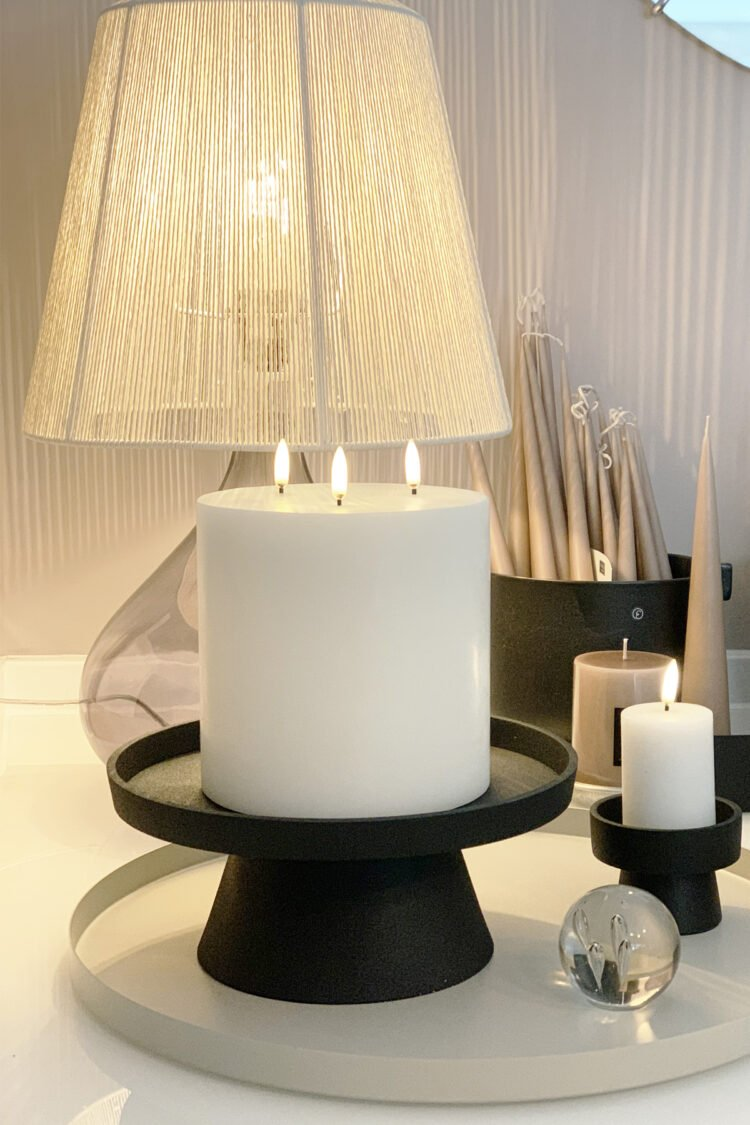 Stumpenkerze LED 15x15, 3 Flammen